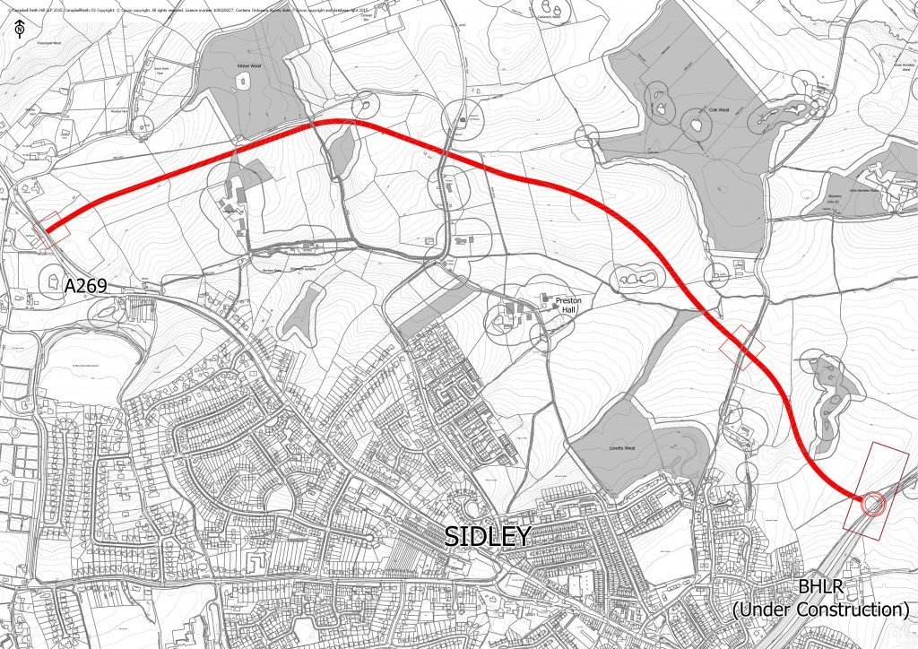 North Bexhill Access Road - proposed route